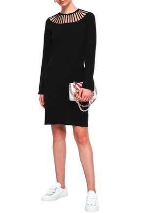 BOUTIQUE MOSCHINO Cutout knitted mini dress