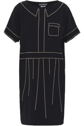BOUTIQUE MOSCHINO Studded crepe mini dress