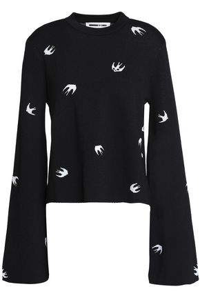 McQ Alexander McQueen Fluted jacquard-knit sweater