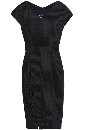 BOUTIQUE MOSCHINO Pinstriped wool-blend crepe dress
