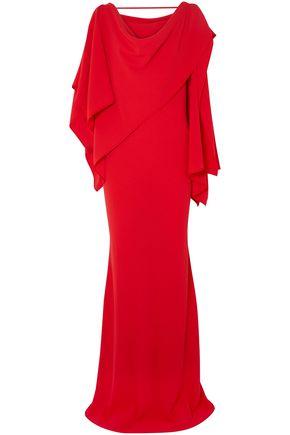 GARETH PUGH Draped crepe gown