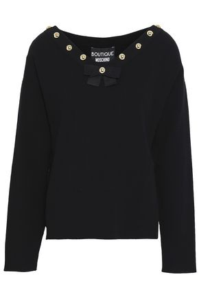 BOUTIQUE MOSCHINO Studded knitted top