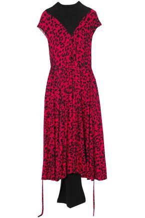 VETEMENTS Draped leopard-print stretch-jersey midi dress