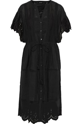 LOVE SAM Pleated broderie anglaise dress