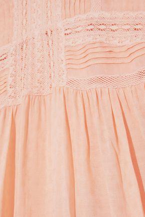 LOVE SAM Pleated modal-blend jacquard mini dress