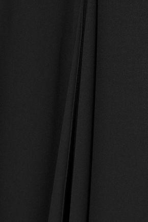 HALSTON HERITAGE Layered ruffled crepe jumpsuit