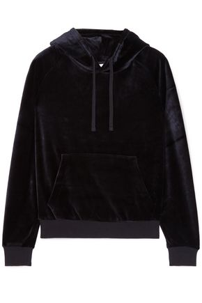 VETEMENTS Crystal-embellished velour hooded top