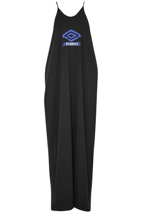 VETEMENTS + Umbro printed cotton-jersey maxi dress