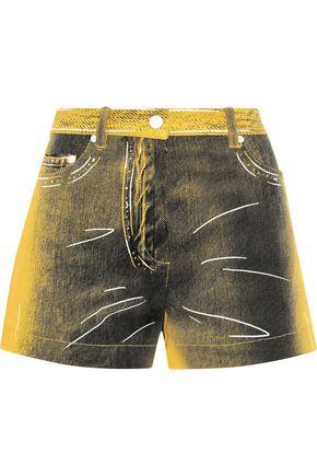 MOSCHINO Printed denim shorts