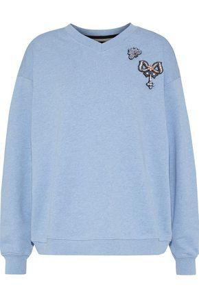 MARKUS LUPFER Nicole appliquéd cotton-terry sweatshirt