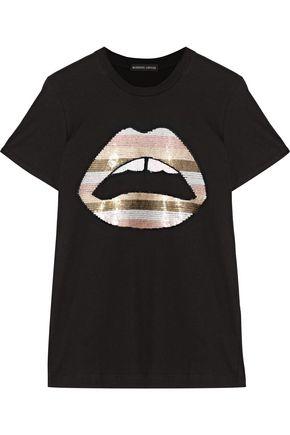MARKUS LUPFER Kate sequin-embellished jersey T-shirt