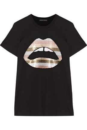 MARKUS LUPFER Kate sequin-embellished cotton-jersey T-shirt