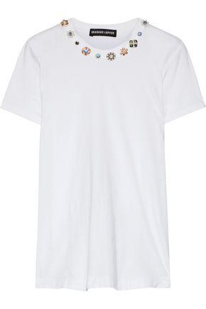 MARKUS LUPFER Kate embellished cotton-jersey T-shirt