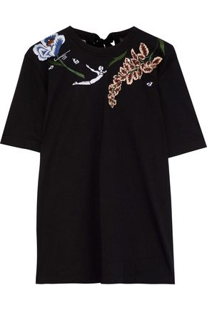 MARKUS LUPFER Ali embellished cotton-jersey T-shirt