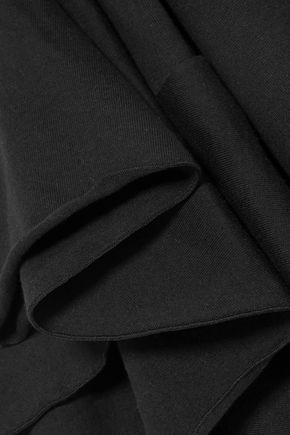 FACETASM One-shoulder cotton-jersey top
