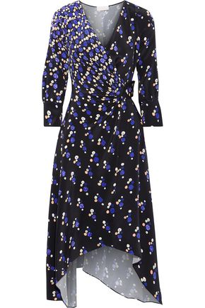 PETER PILOTTO Ruched printed silk crepe de chine midi dress