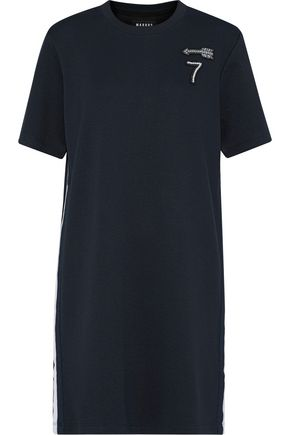 MARKUS LUPFER Appliquéd mélange jersey mini dress