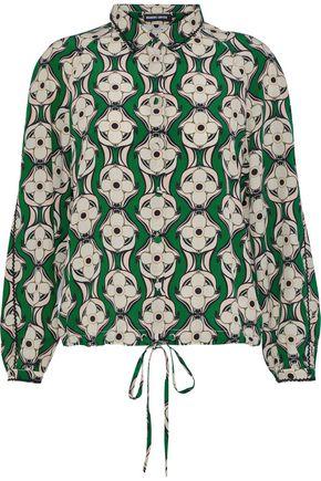 MARKUS LUPFER Phoebe floral-print silk shirt