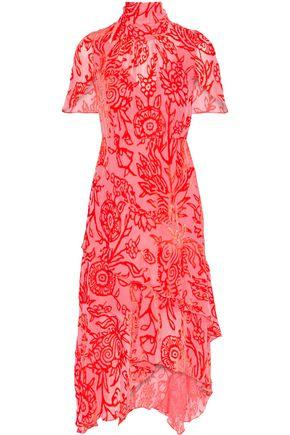 ANCIENT GREEK SANDALS x PETER PILOTTO Layered devoré-chiffon dress