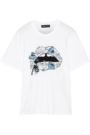 MARKUS LUPFER Embellished cotton-jersey T-shirt