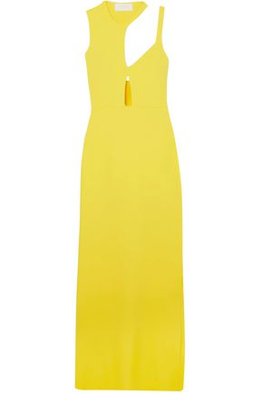 ESTEBAN CORTAZAR Cutout stretch-knit gown