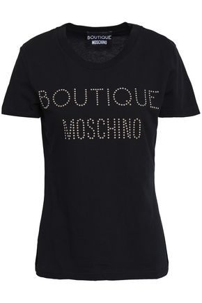 BOUTIQUE MOSCHINO Studded cotton-jersey T-shirt