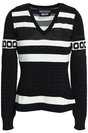 BOUTIQUE MOSCHINO Jacquard-knit sweater