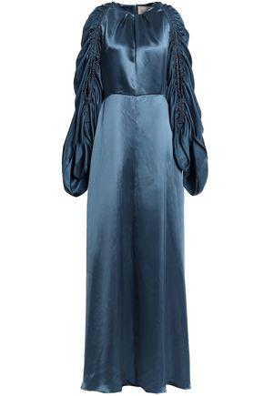 ROKSANDA Zariah ruched silk satin-twill gown