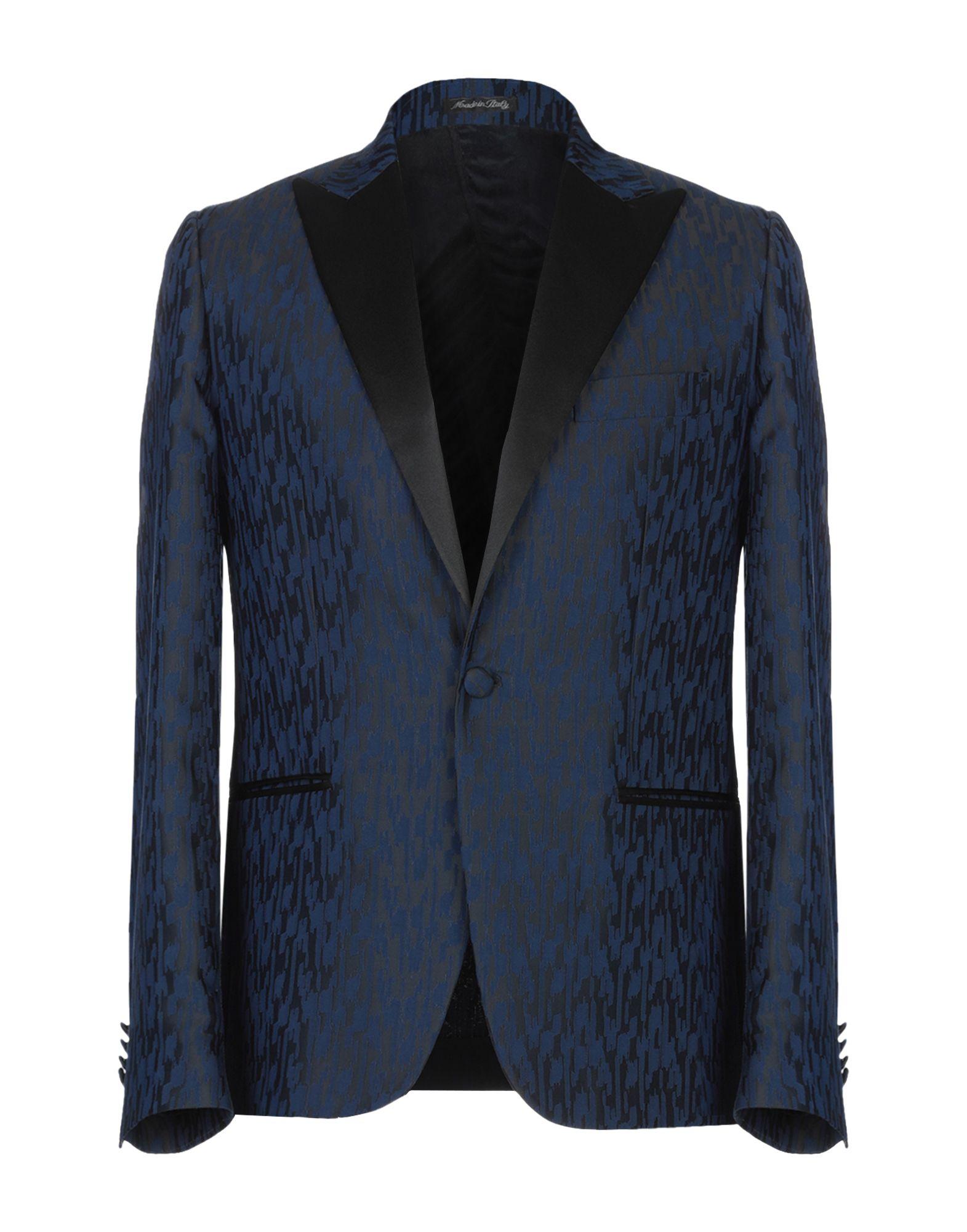 《期間限定セール開催中!》EREDI DEL DUCA メンズ テーラードジャケット ダークブルー 48 レーヨン 55% / ポリエステル 45%