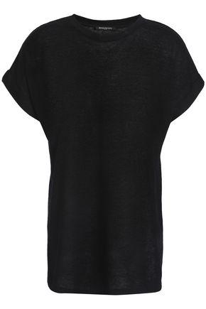 BALMAIN Linen-blend T-shirt
