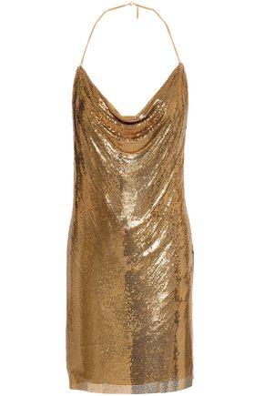 BALMAIN Draped chainmail mini dress