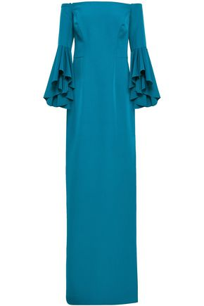 MILLY Selena off-the-shoulder cady gown