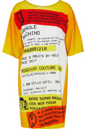 MOSCHINO Printed jersey mini dress