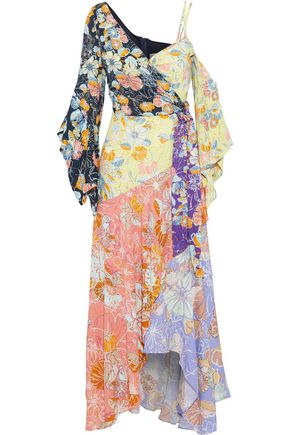PETER PILOTTO Floral-print crepe de chine maxi wrap dress