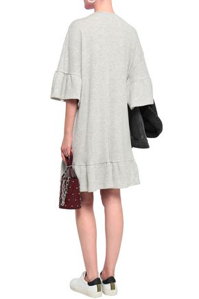 McQ Alexander McQueen Crystal-embellished French cotton-blend terry mini dress