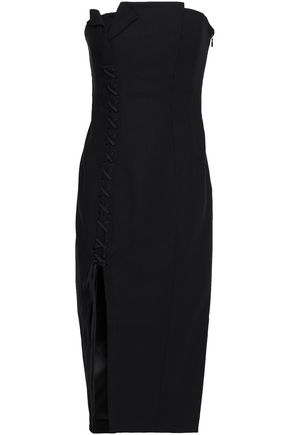 CINQ À SEPT Charlotte strapless split-front jersey midi dress