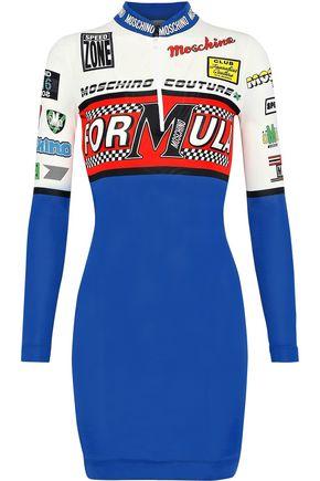 MOSCHINO Printed jersey mini dress