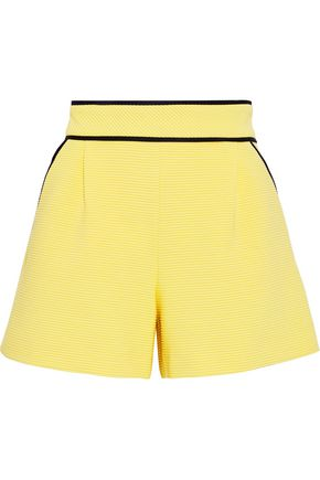BOUTIQUE MOSCHINO Ribbed cotton-blend shorts