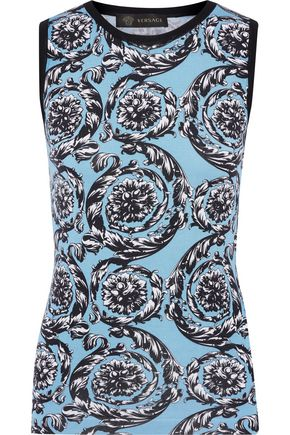 f0d97a0bb202d VERSACE Printed stretch-silk top