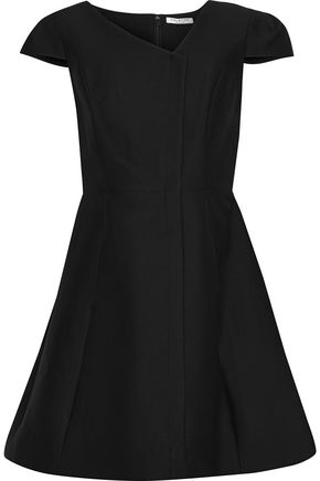 HALSTON HERITAGE Cotton and silk-blend mini dress
