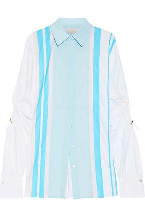 ANCIENT GREEK SANDALS x PETER PILOTTO Cutout striped cotton-blend poplin shirt