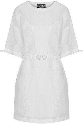 BOUTIQUE MOSCHINO Cotton-blend cloqué mini dress