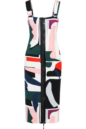 CUSHNIE ET OCHS Orlena printed stretch-crepe midi dress