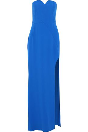 HALSTON HERITAGE Strapless crepe gown