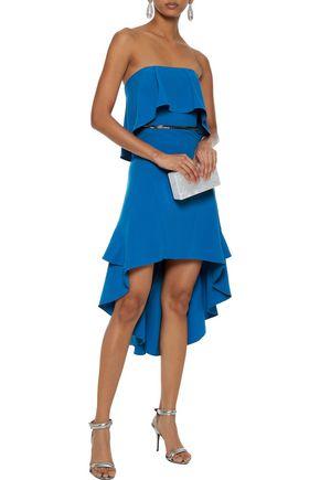 995f2bd0ff457 HALSTON HERITAGE Strapless bead-embellished stretch-crepe mini dress