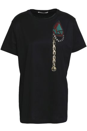 MARCO DE VINCENZO Embellished cotton-jersey T-shirt
