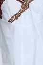 MARCO DE VINCENZO Macramé-trimmed stretch-cotton poplin camisole