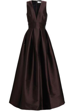 SACHIN & BABI Pleated satin gown