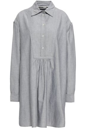 McQ Alexander McQueen Lace-up cotton Oxford mini shirt dress