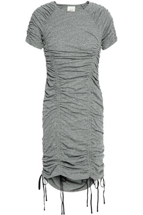 CINQ À SEPT Ruched mélange jersey mini dress